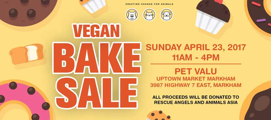 Peace Fur Paws Vegan Bake Sale April 23, 11-4pm